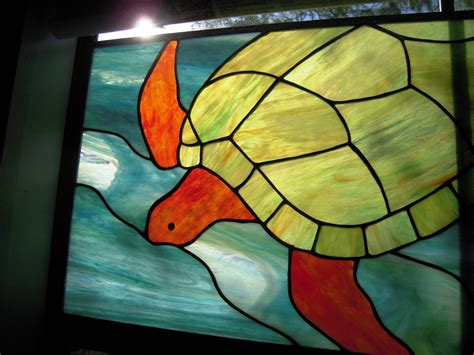 stained glass turtle l stained glass sea turtle