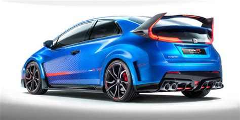 honda civic type r : updated concept previews 2015 hot
