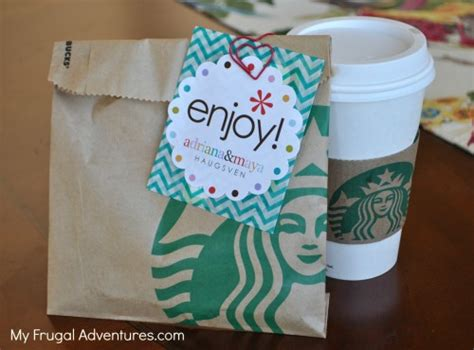 Gift Card Idea - teacher gift idea starbucks gift cards my frugal adventures