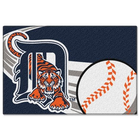 detroit tigers rug detroit tigers mlb 39 quot x 59 quot acrylic tufted rug