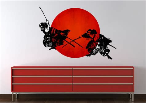 japanese wall sticker japanese warriors ethnic printed wall sticker