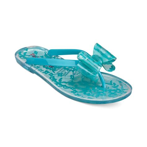 pink and blue sandals pink and pepper flat jelly sandals in blue