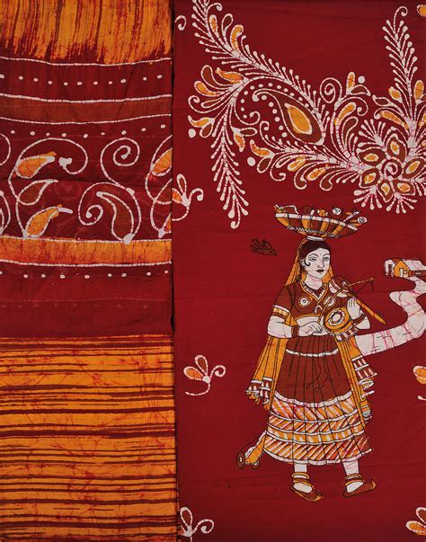 Batik Sarimbit Batik Maroon maroon and orange batik salwar kameez fabric with printed