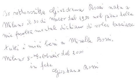 esempio di testamento testamento olografo vercelli chiama ora 3487262775