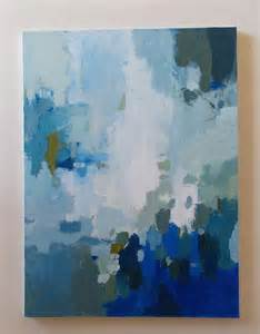 blue and white painting large abstract painting blue and white acrylic on canvas original pai