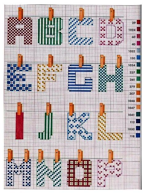 punto croce lettere per bambini schemi punto croce alfabeto bambini gn52 187 regardsdefemmes