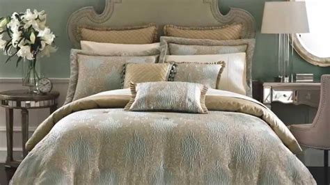 bedroom comfortable bed design  decorative  smooth croscill bedding collections