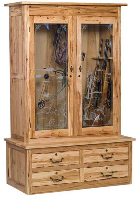 Handmade Gun Cabinets - amish made custom gun cabinets the wood loft amish