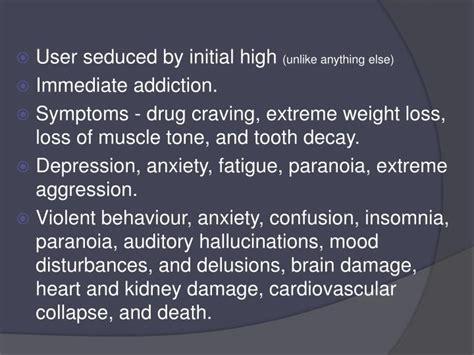 paranoia depression anxiety mood swings ppt methhetamine powerpoint presentation id 2355309