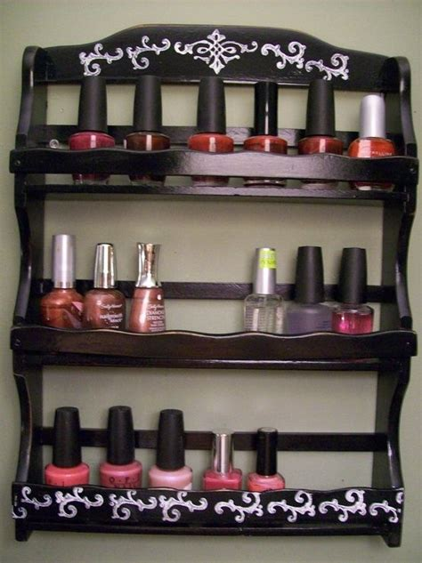Nail Rack Holder by Spice Racks Spices And Nail Polishes On