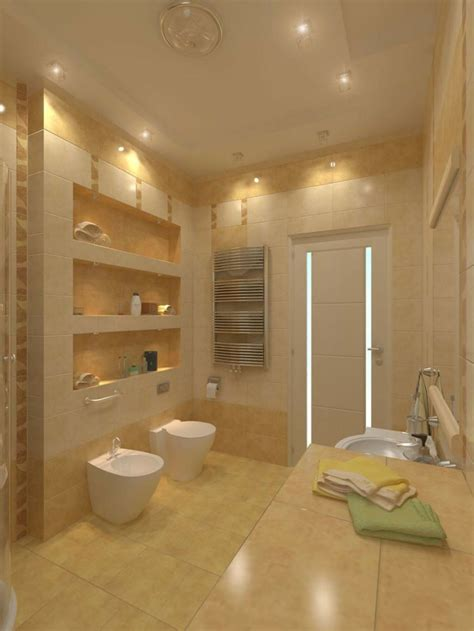 integrierte deckenbeleuchtung beaucoup d id 233 es en photos pour une salle de bain beige