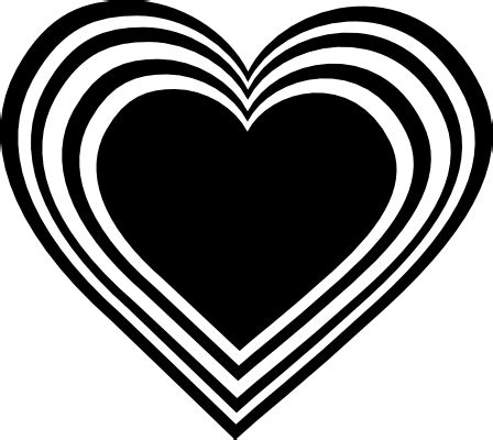 clip art black and white heart.png photo by
