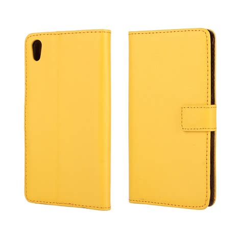 Wallet Leather Sony Z5 by Sony Xperia Z5 Leather Wallet Yellow