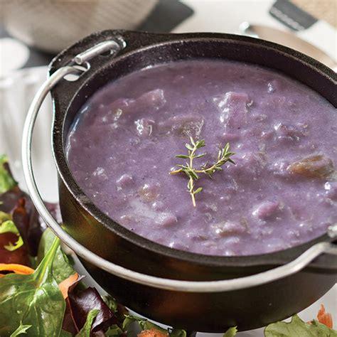 purple potato soup paula deen magazine