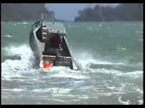 aluminum boats in rough water orca 6m aluminium pontoon boat in rough seas youtube