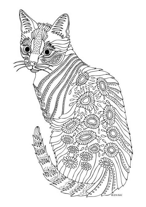adult coloring pages cat 1 coloring pages pinterest 629 best adult colouring cats dogs zentangles images on