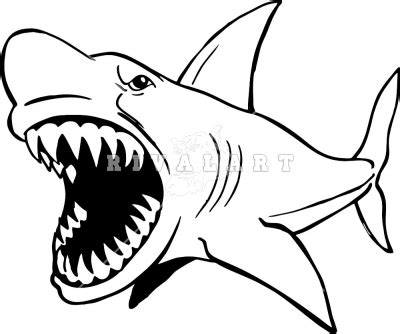 shark face coloring page shark bite surfboard clip art clipart panda free