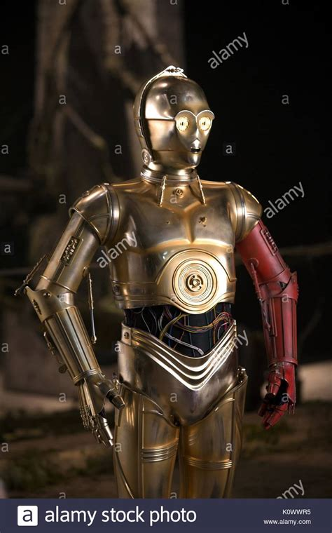 anthony daniels force awakens anthony daniels as c 3po film title star wars stock photos