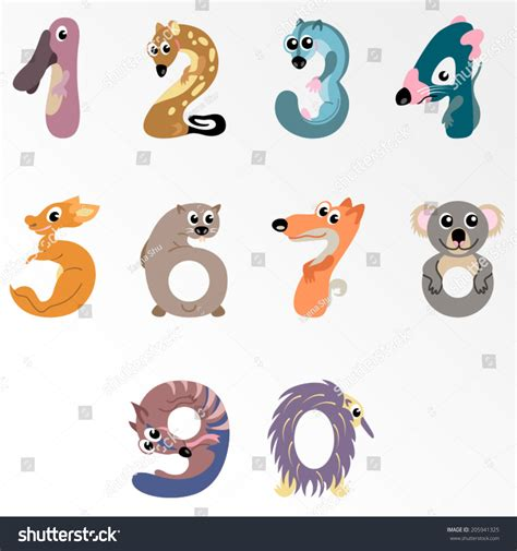 Email Address Finder Australia Numbers Like Australian Animals Solid Fill Vector Illustration 205941325