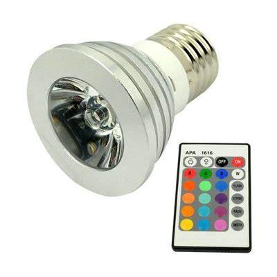 Remote Control 16 Color Rgb Led Bulb Light L E27 3w Remote Rgb Led Light Bulb