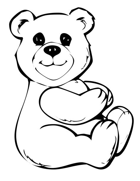 free printable teddy coloring pages for