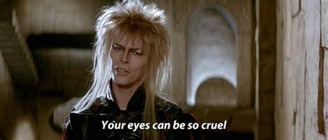 David Bowie Labyrinth Meme - gif mine 1980s david bowie labyrinth 1986 jareth bowie gif