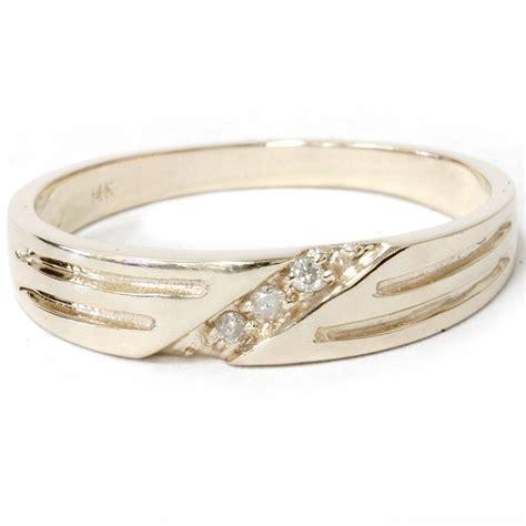 mens  yellow gold diamond wedding anniversary ring ebay