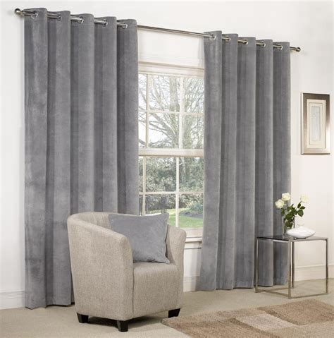 blue beige curtains velvet ringtop lined window door curtains brown red grey