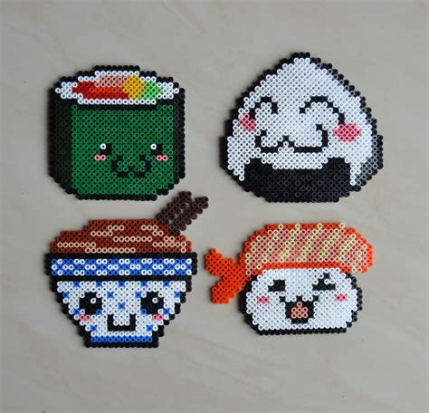 perler bead food kawaii food hama by crea perles 82 perler