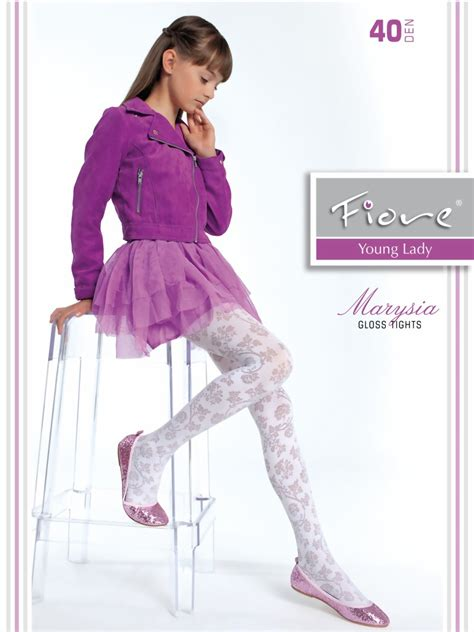 patterned childrens tights fiore elegant childrens tights with floral pattern