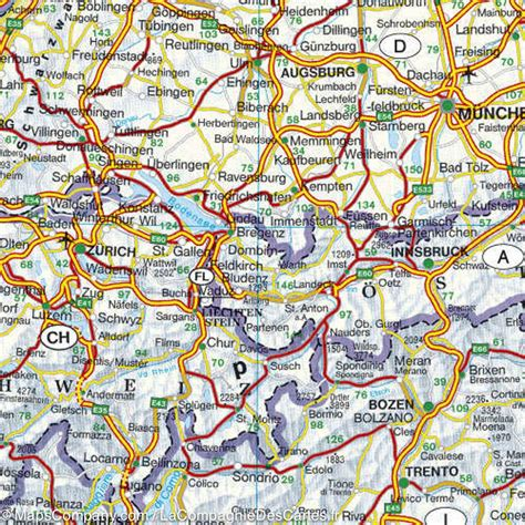 road map of europe road physical map of europe freytag berndt mapscompany