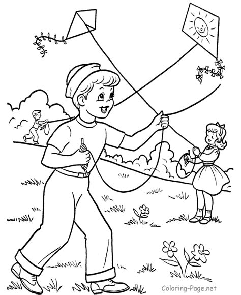 printable coloring pages how to your free kite coloring pages coloring home