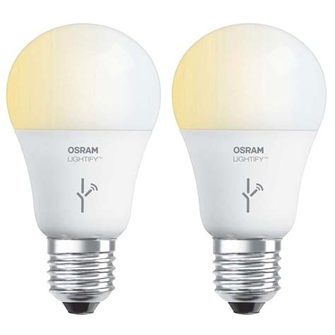 Smart Light Bulbs by Sylvania Osram Lightify 60 Watt A19 Tunable Smart Home Led