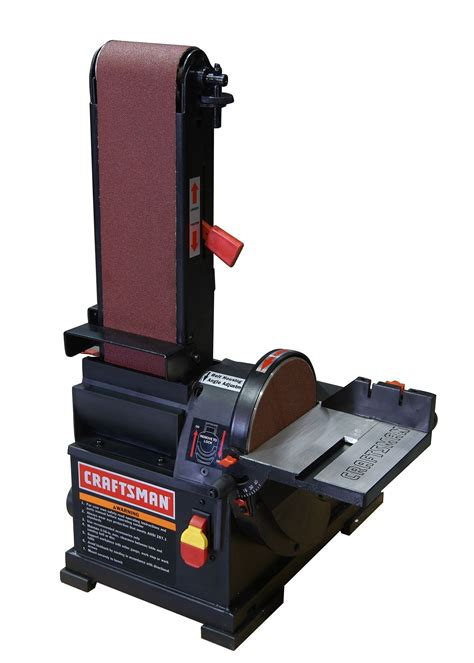 bench disc sander craftsman 21514 1 3 hp bench top 4 quot x 36 quot belt 6 quot disc