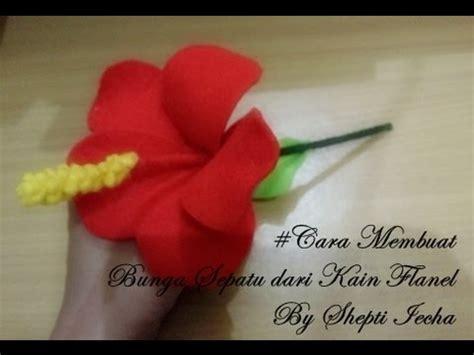 membuat bunga  kain flanel youtube