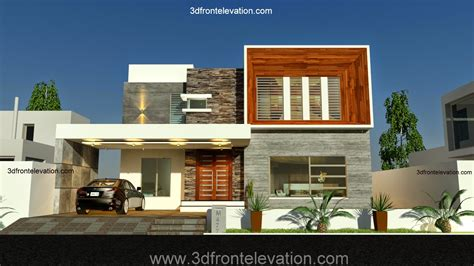 3d front elevation new 1 kanal contemporary house