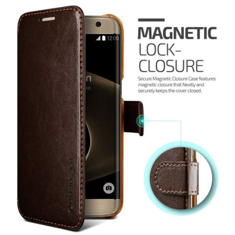 vrs design dandy leather style galaxy s7 edge wallet case