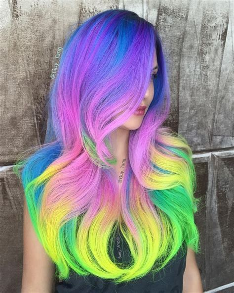 pink and yellow make what color best 25 neon hair ideas on neon hair color