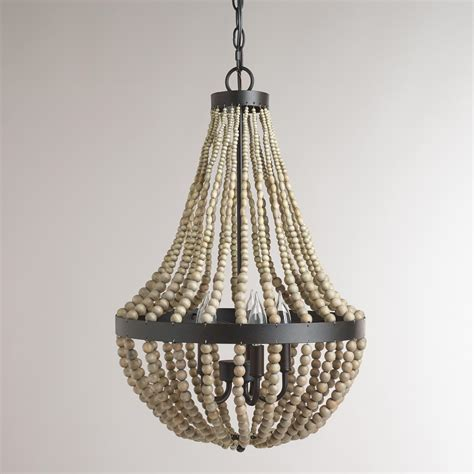 Beaded Wood Chandelier Shopping World Market Rardon Designrardon Design