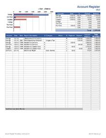 Bank Register Template by Account Register Template With Sub Accounts In Excel