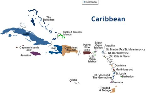 map of the us and caribbean caraibi web cams
