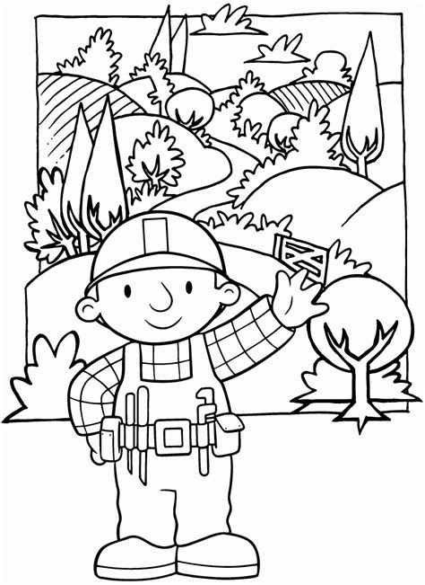 Bob The Builder Coloring Pages To Print Free Printable Bob The Builder Coloring Pages For Kids by Bob The Builder Coloring Pages To Print