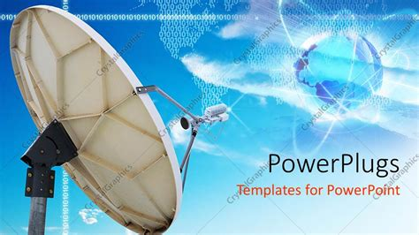 Powerpoint Template A Dish With A Number Of Patterns In Satellite Ppt Template Free