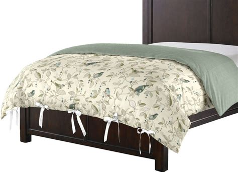 custom ivory and green floral duvet cover