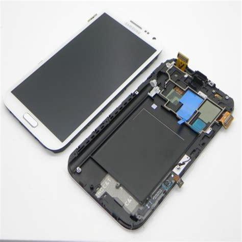 Lcd Samsung Note1 untuk samsung galaxy note 2 lcd n7100 lcd layar sentuh perakitan dengan bingkai warna putih
