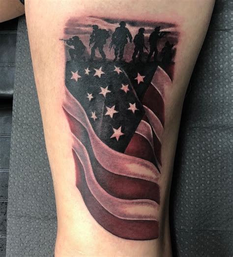 veteran tattoos us flag veteran ink