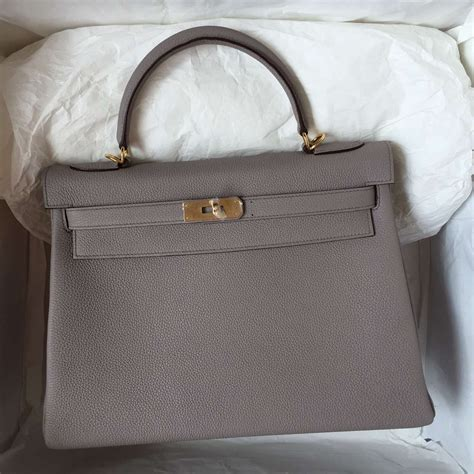 Hermes Togo Grey hermes bag 32cm retourne light etain grey togo