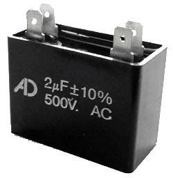 bypass motor run capacitor 2uf 500v motor run capacitor adm500c205k west florida components