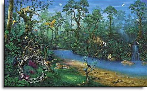 Environmental Graphics Wall Murals jungle dreams c829 wall mural themuralstore com