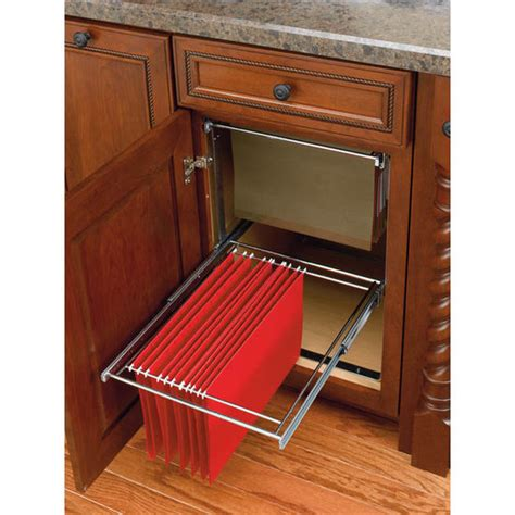file cabinet with pull out shelf two tier pull out file system for kitchen or desk